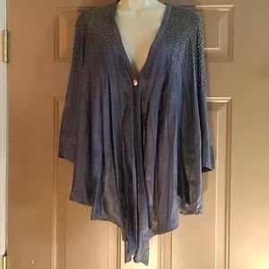 ELIZABETH AND JAMES BEADED BLOUSE-SIZE XS-PERFECT